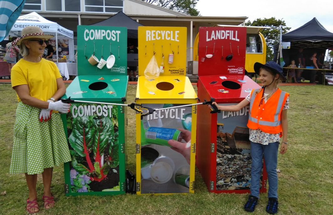 Bigbuzz Festival, Matakana School, waste separation, waste educators